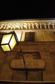 La facciata, la notte