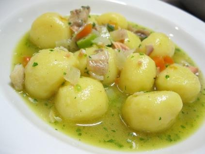 Gnocchi di patate (senza glutine) con guazzetto di lago